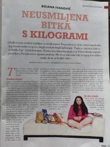 Bojana Ivanović - v medijih - Neusmiljena bitka s kilogrami